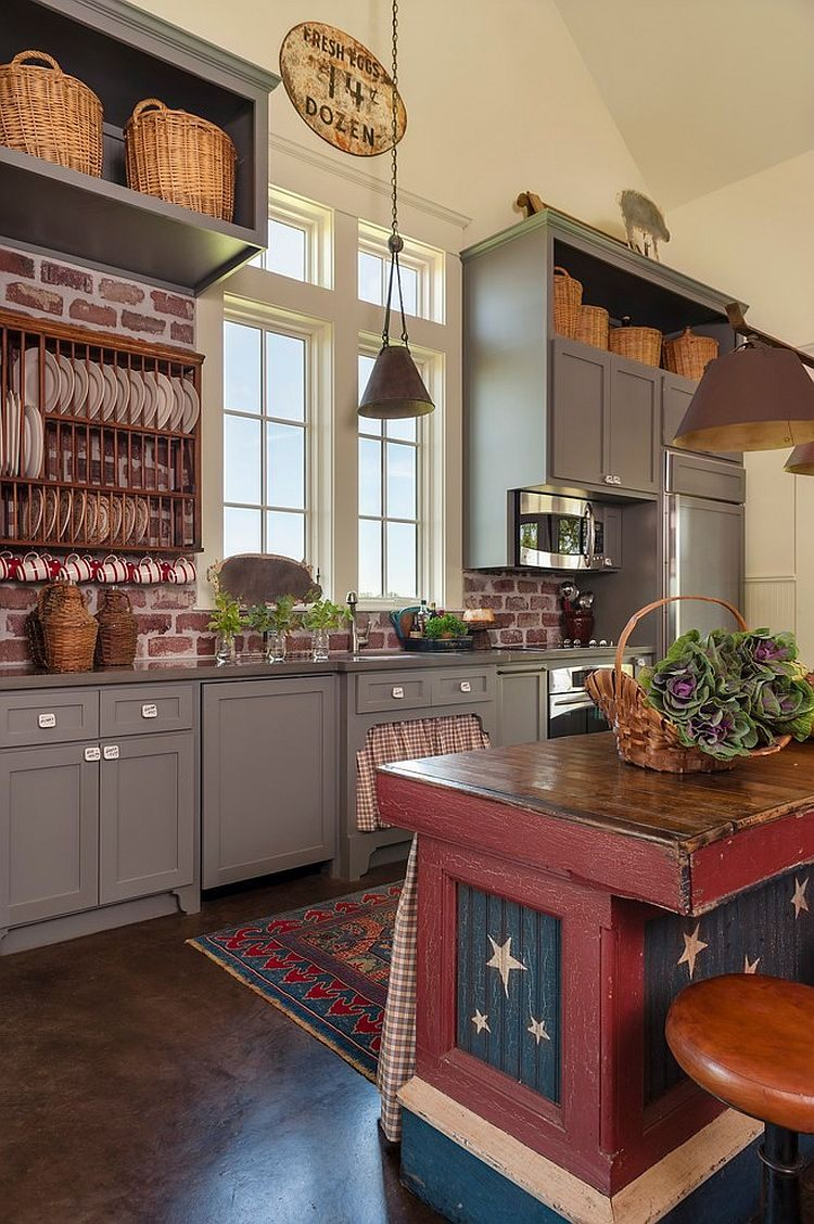 unique-farmhouse-kitchen-with-a-touch-of-red-blue-and-white