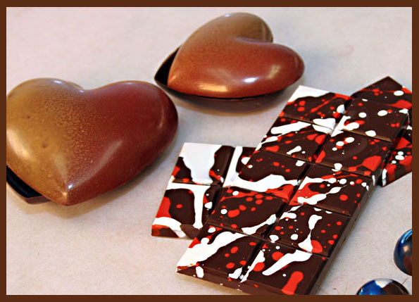 окрашивание шоколада